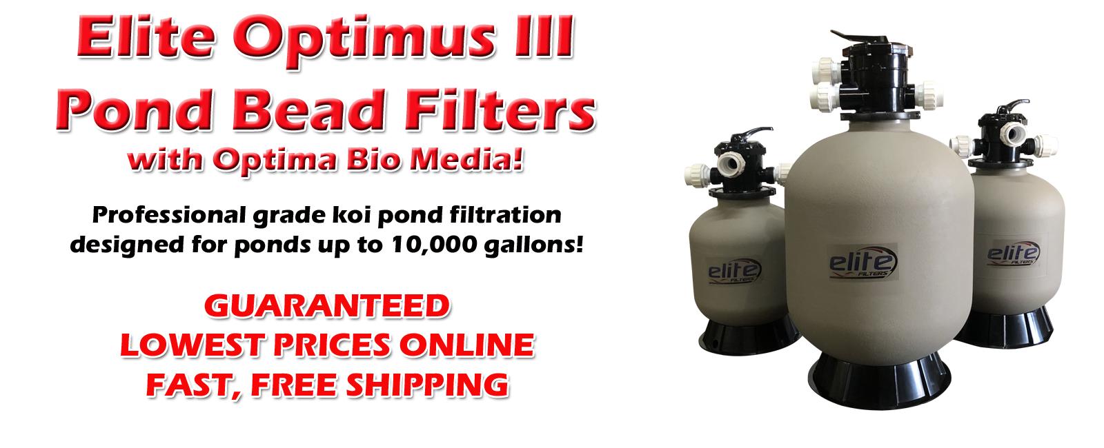 Elite Optima III Pond Bead Filters with Optima Bio Media